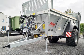 Fliegl Dung-/Kompoststreuer ADS 120 mit Deichselfederung sofort lieferbar!